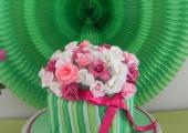 Gâteau Vase de Roses