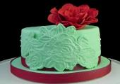 Gâteau Rose en sucre