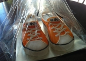 Gâteau sculpté Converse Orange