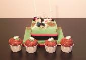 Gâteaux Rugby et ses cupcakes