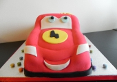 Cars Flash McQueen Cake