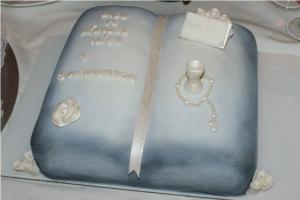 Gâteau 1ere Communion livre