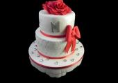 Gâteau anniversaire et sa Rose en sucre