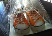 Gâteau sculpté Converse Orange