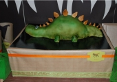 Gâteau sculpté dinosaure - 30 parts