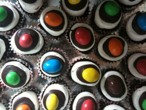 Chamallows au chocolat et MMs