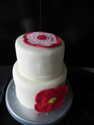 Wedding Cake Fleur en tissu