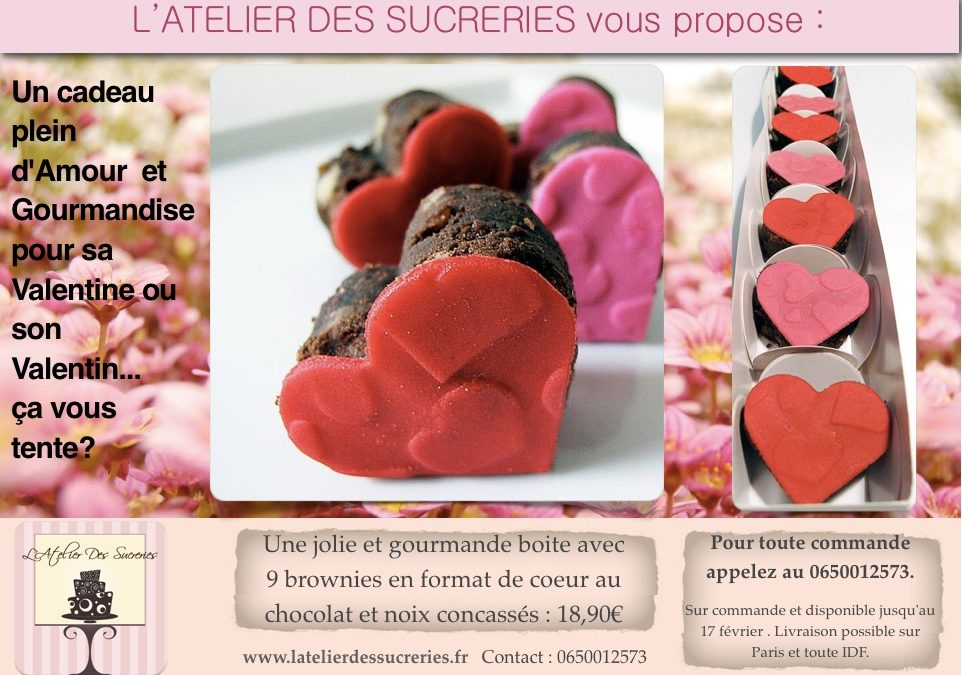 Brownies Gourmands pour la Saint Valentin
